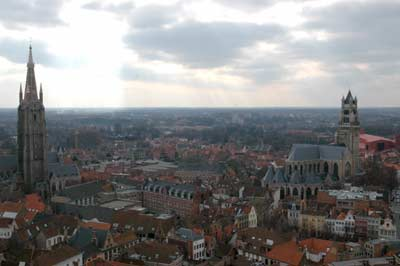 """""""View from atop the belfry in Bruges."""""""