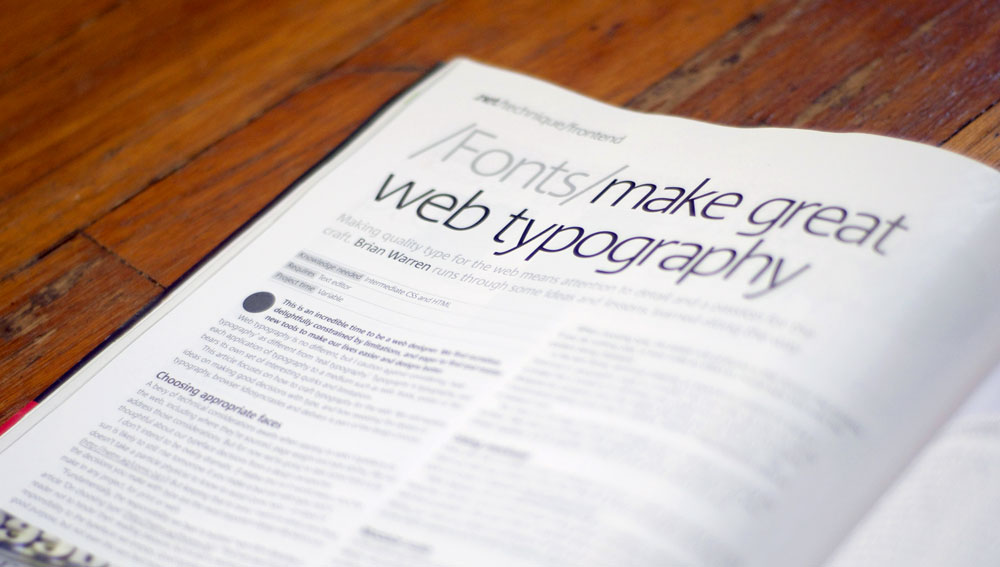 Photo of .net Magazine article